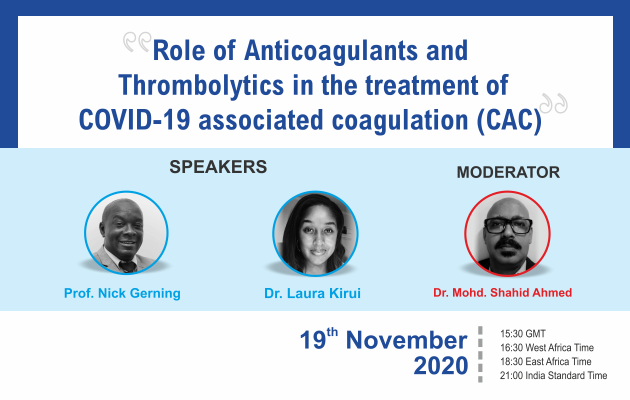 Role of Anticoagulants and Thrombolytics in the treatment of COVID - 19 associated coagulations.